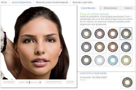 Imagem da notícia: Uma aplicação web permite experimentar virtualmente lentes de contacto