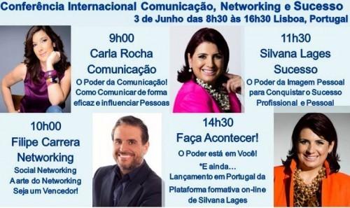 """Imagem da notícia: """"Conferência Internacional de Comunicação, Networking e Sucesso"""""""