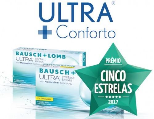 Imagem da notícia: ULTRA® da Bausch+Lomb ganha o Prémio Cinco Estrelas 2017