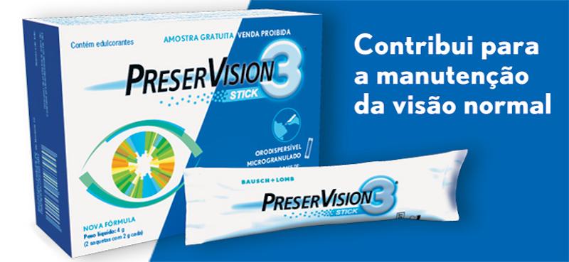 Imagem da notícia: Bausch+Lomb lança Preservision3® em sticks
