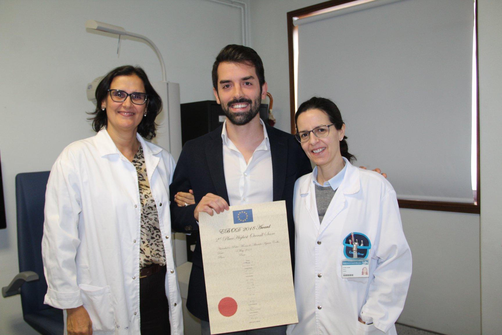 Imagem da notícia: Pedro Coelho fica em segundo lugar no exame EBO de 2018