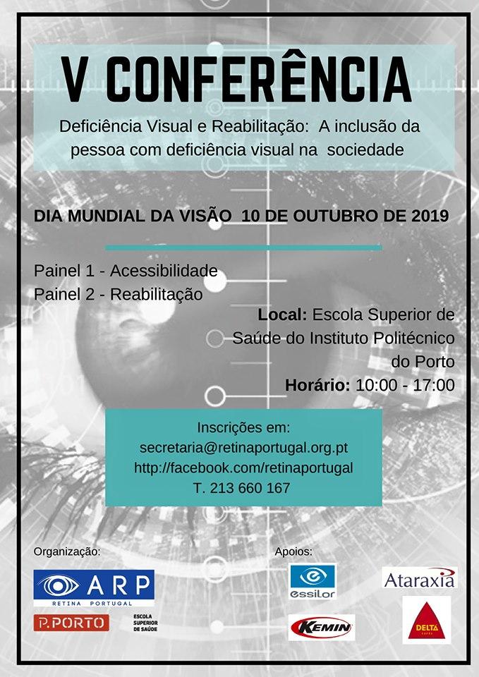 Imagem da notícia: Porto recebe V Conferência – Deficiência Visual e Reabilitação