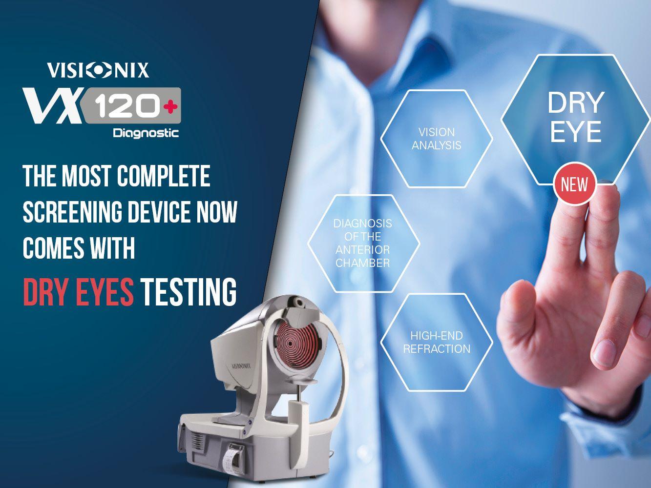 Imagem da notícia: VX120+ agora com análise da síndrome do olho seco