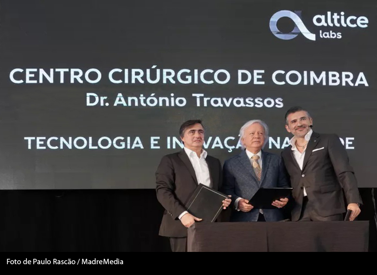 Imagem da notícia: Centro Cirúrgico de Coimbra e Altice Labs desenvolvem parceria