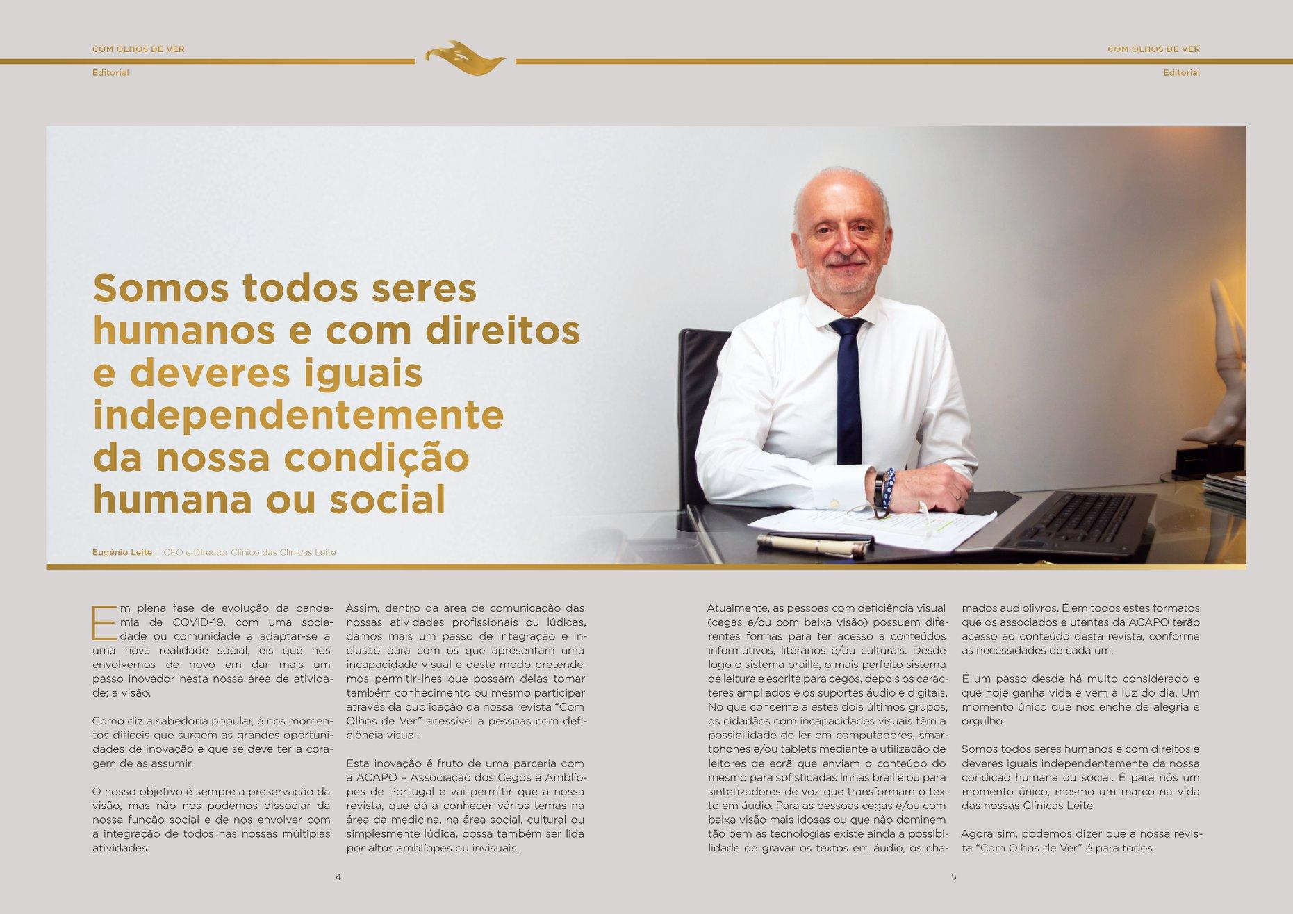 Imagem da notícia: Clínicas Leite estabelecem parceria com a ACAPO