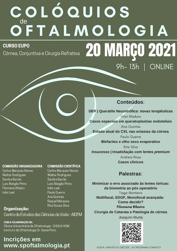Imagem da notícia: Inscreva-se nos Colóquios de Oftalmologia 2021