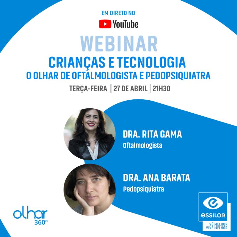 """Imagem da notícia: Webinar: """"Crianças e Tecnologia – O olhar do oftalmologista e pedopsiquiatra"""""""
