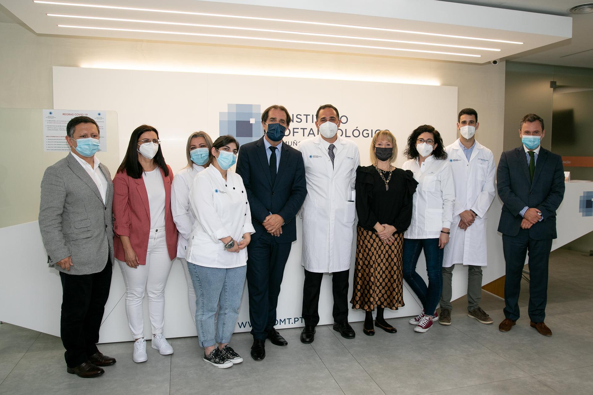 Imagem da notícia: Instituto Oftalmológico Muñoz Trindade recebe Miguel Albuquerque e Rui Barreto