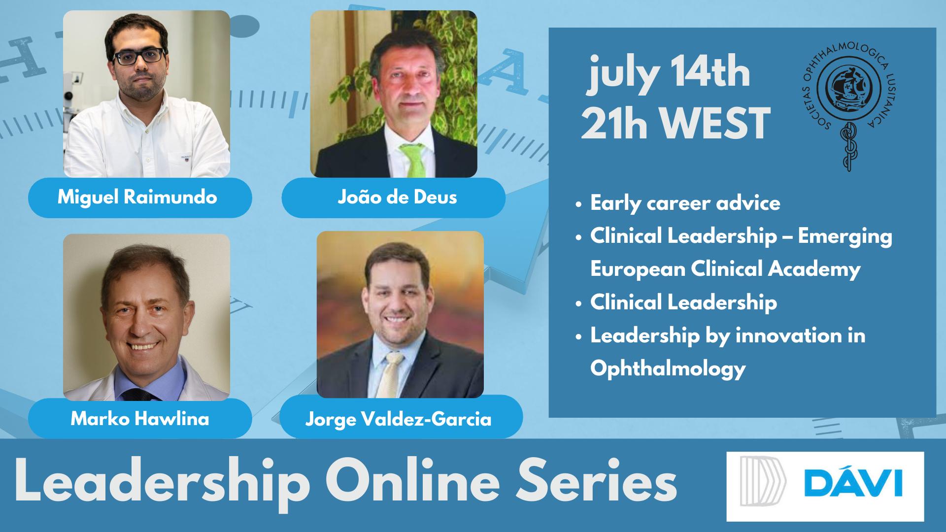 Imagem da notícia: Leadership Online Series realiza 8.ª sessão