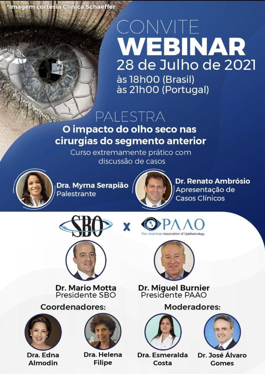 """Imagem da notícia: SPO dedica webinar ao """"olho seco"""" e o seu impacto"""