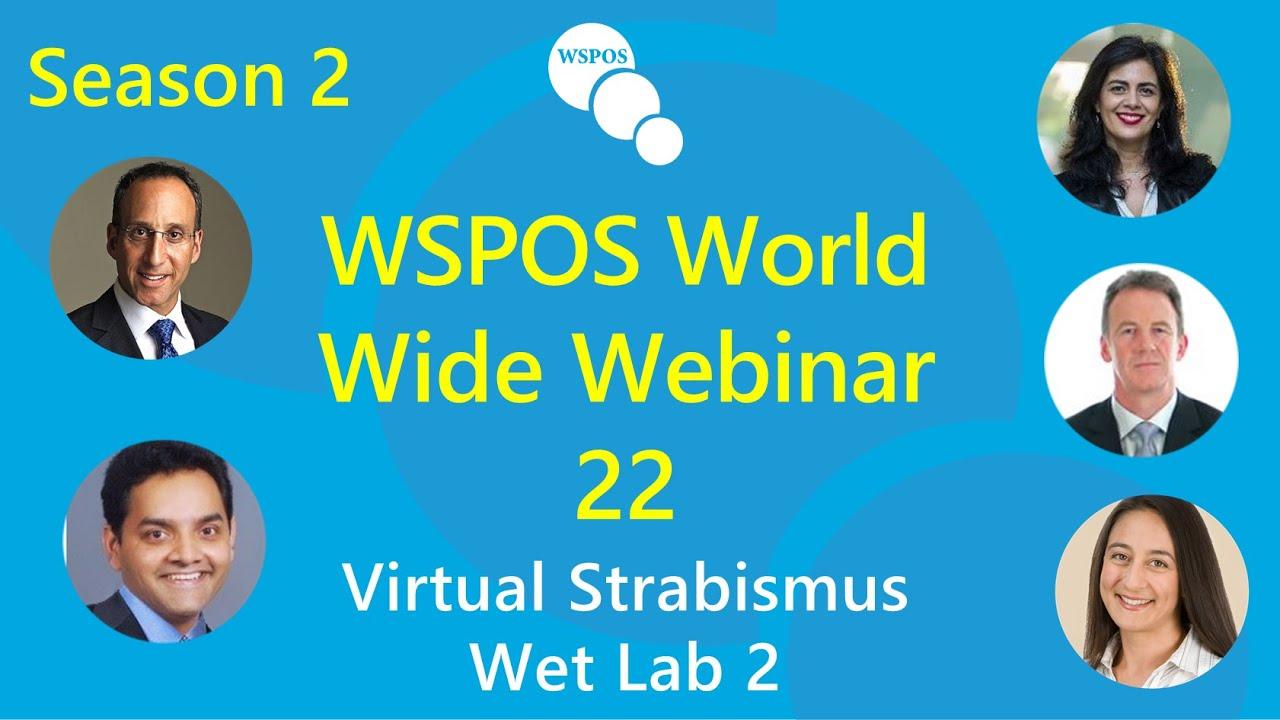 Imagem da notícia: Estrabismo em debate no Wet Lab da WSPOS