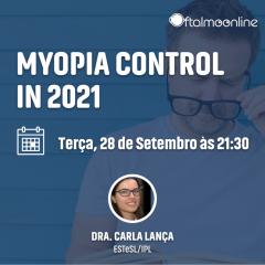 """Imagem da notícia: """"Myopia control in 2021"""" é o tema do webinar com Carla Lança"""